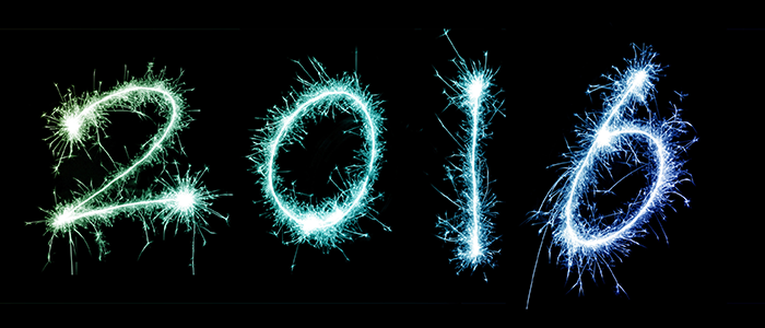 graphic showing 2016 in fireworks