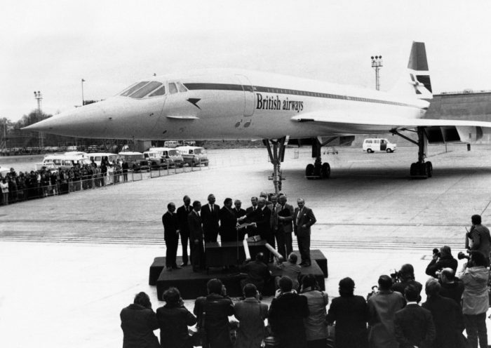 Concorde on runway