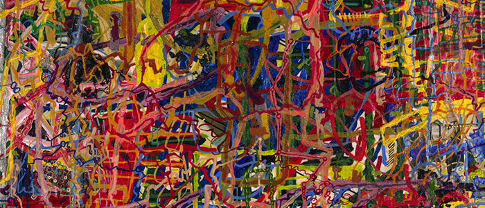 Cropped abstract painting