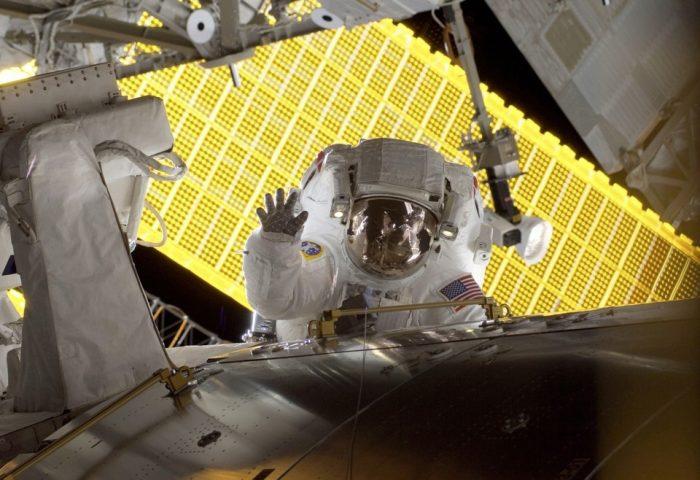 Astronaut in full gear