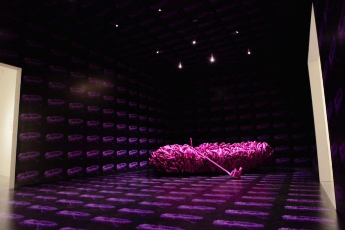 large amorphous object on display as part of Infinity Mirrors exhibition