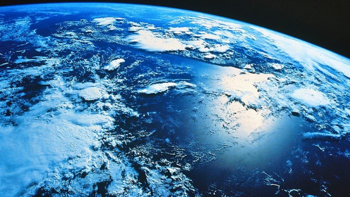 partial view of earth from space