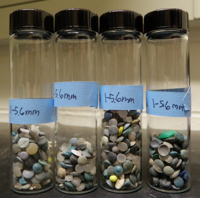 vials containing small plastic pellets
