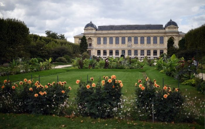 Museum with gardens in foreground