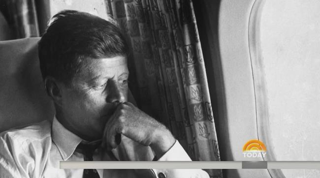 Screenshot showing Kennedy looking pensively out of window