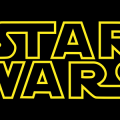 Star Wars logo in yellow on black background