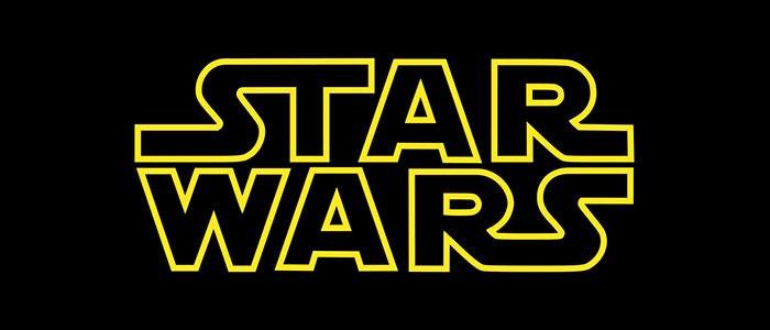 Star Wars logo in yellow on black background