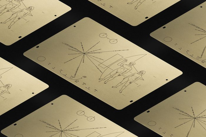 Detail of drawings from space probe