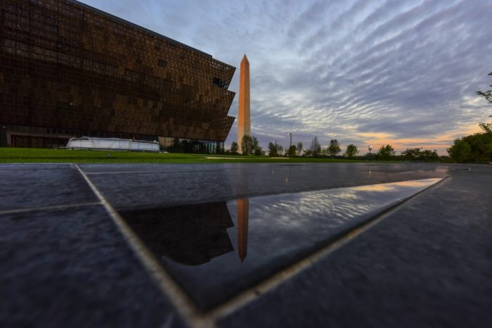 African American Museum at sunset