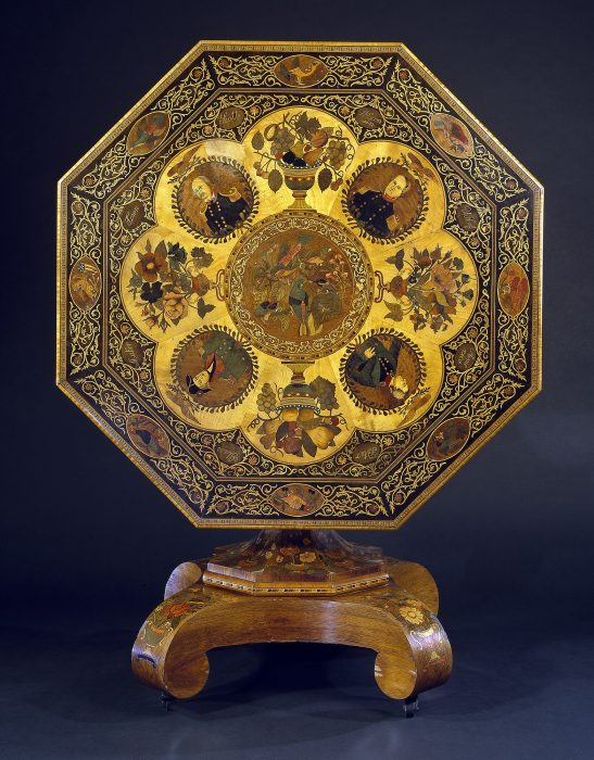 elaborate marquetry table