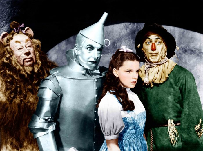 Wizard of Oz stars in costume