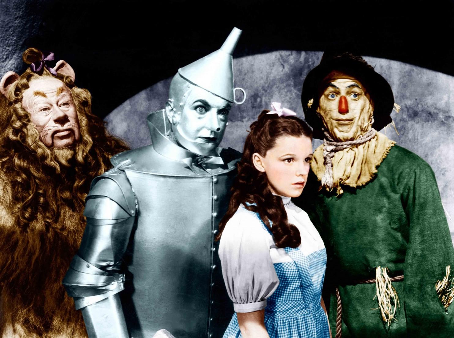 Wizard of Oz stars in costume