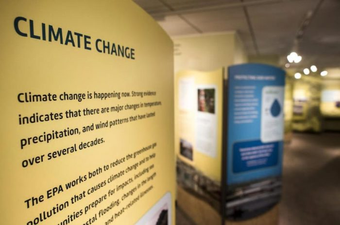 Exhibit on climate change