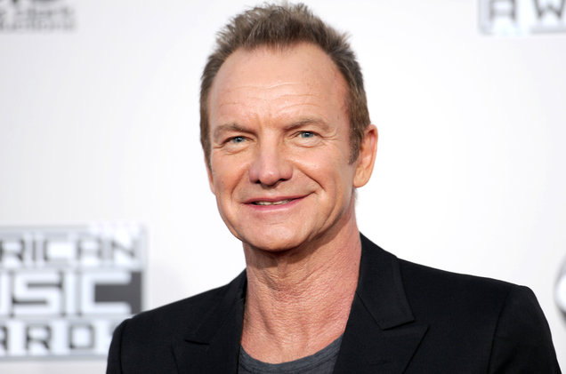 Close-up of musician Sting