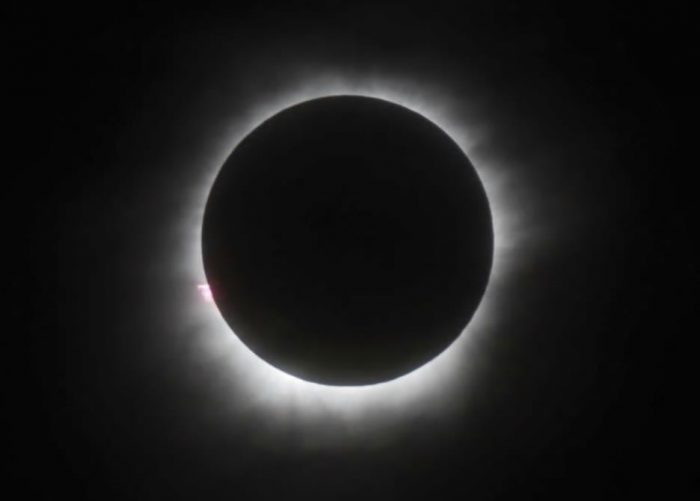 Eclipse showing corona