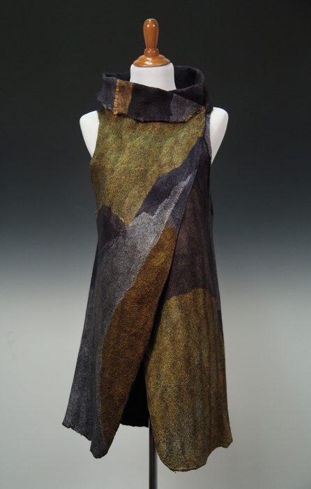 Vest displayed on stand