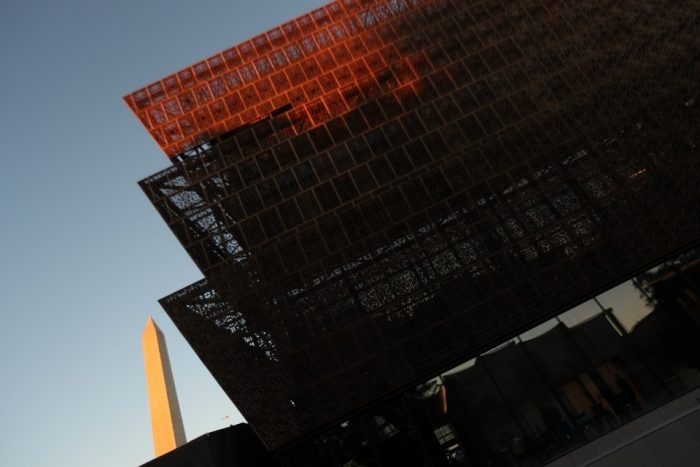 Exterior of National Museum of African American History and Culture