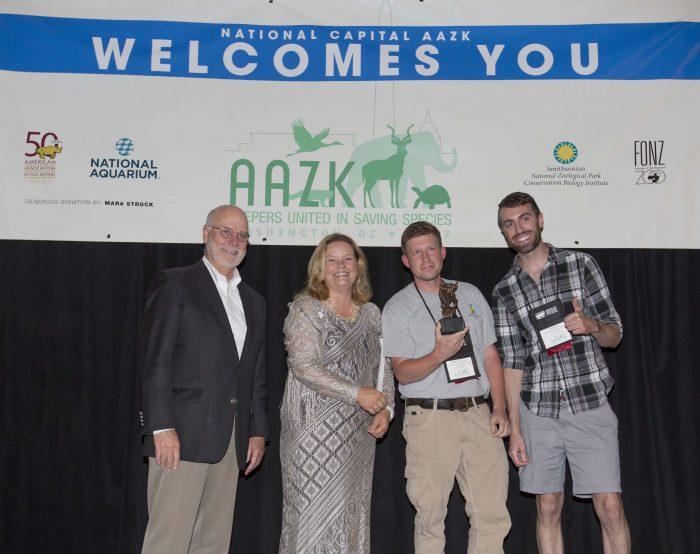 Team members accept AAZK award