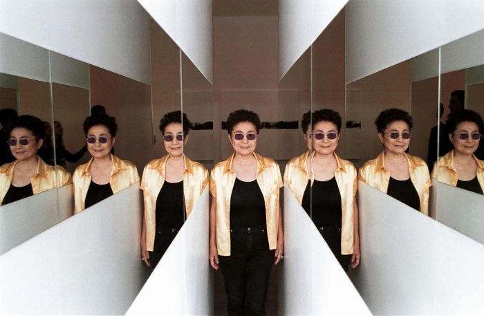 Ono reflected in mirrors