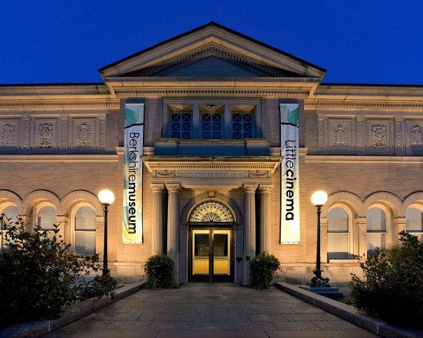 Museum exterior at night