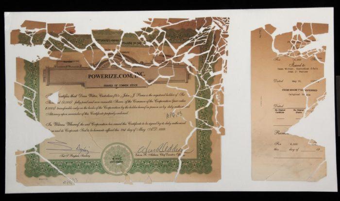 damaged stock certificate