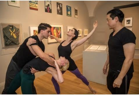 Dance rehearsal in gallery