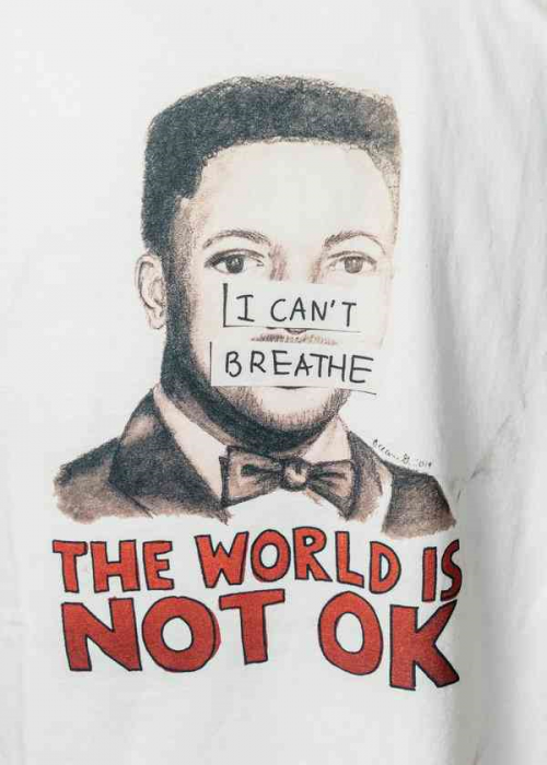 Poster of Garner saying The World is Not Okay