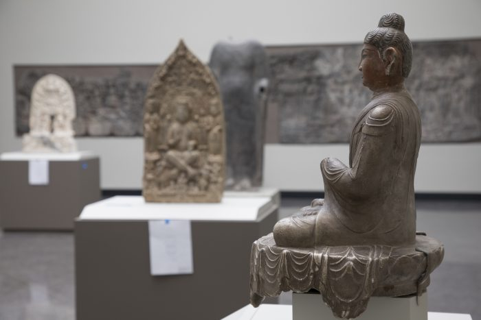 Buddha statue on display