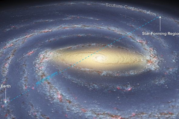 Artists rendering of Milky Way