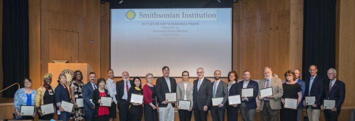 awardees pose with Secretary Skorton