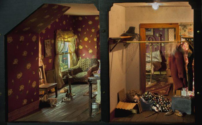 Model of attic room and closet