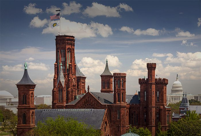 View of the Smithsonian Castle from the East