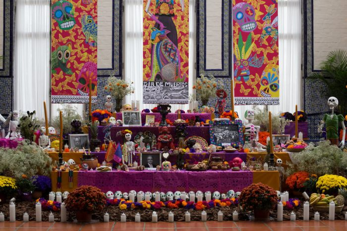 Colorful altar