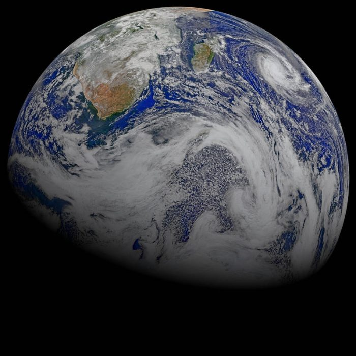 Planed Earth seen from space