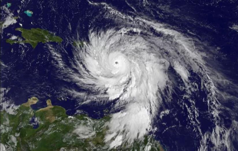 Hurricane Maria seen from space