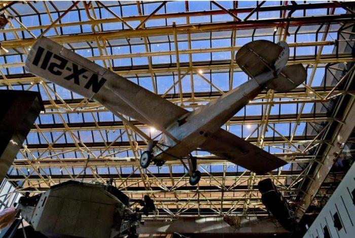 biplane on display