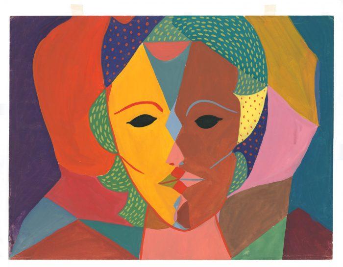 Cubist portrait of Sylvia Plath
