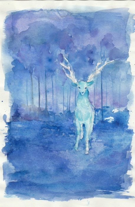 Watercolor of stag