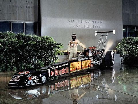 Dragster on display