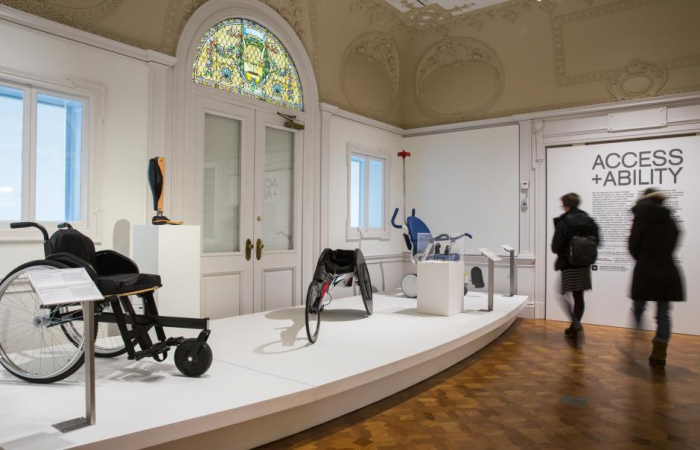 Mobility devices on display in Access + Ability exhibition