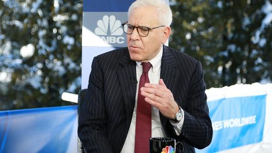 Rubenstein with NBC logo in background