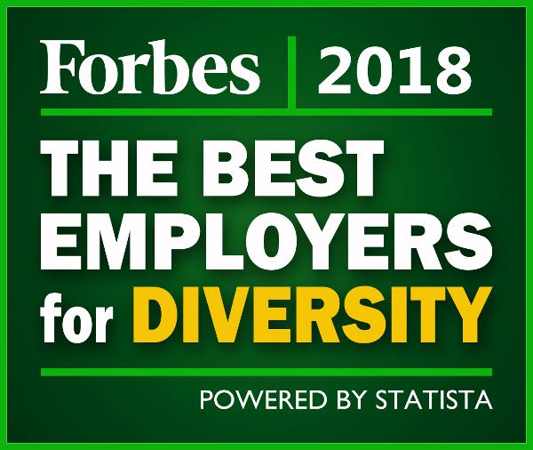 Title graphic: the best employers for diversity