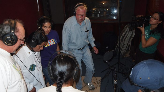 Group recording music