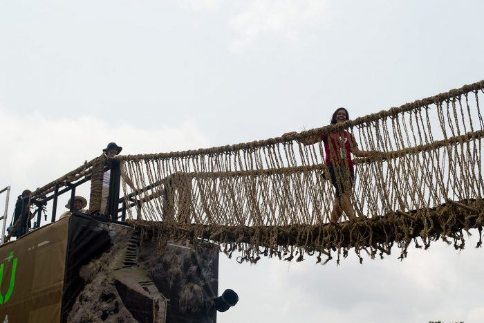 Diaz-Carrerra on rope bridge