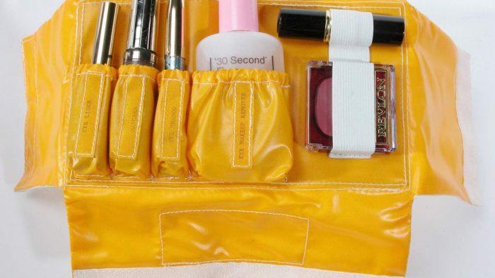 Yellow plastic makeup kit