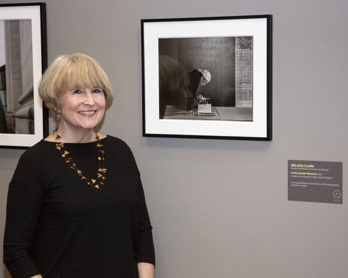 Clark with her photo