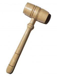 Light wood gavel