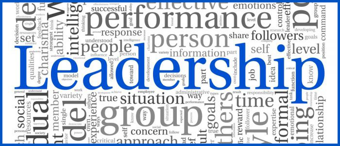 Leadership tag cloud graphic