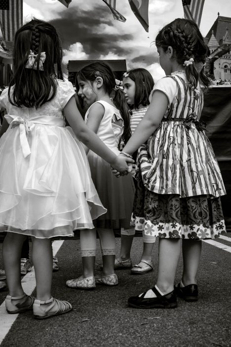 Children hold hands and play together during the annual Turkish Festival on Pennsylvania Avenue.