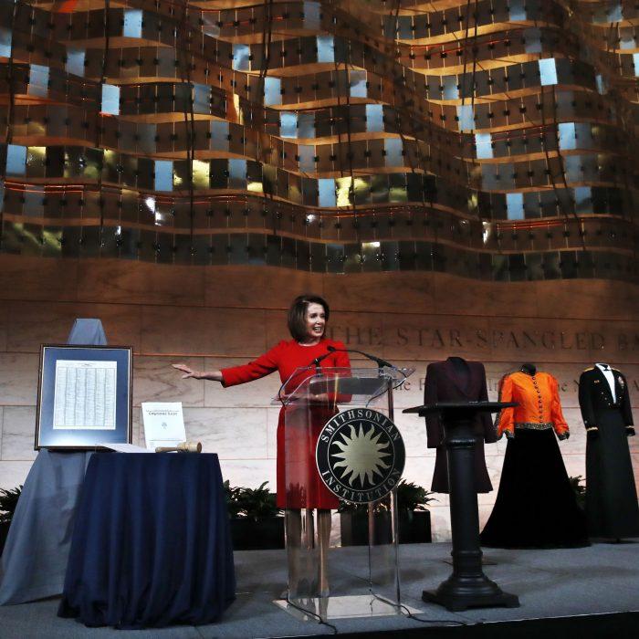Pelosi at podium